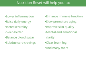 Nutrition, Reset, Detoxification, Detox